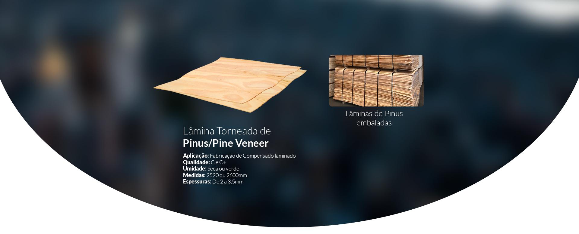 Lâmina Torneada de Pinus/Pine Veneer